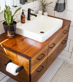 کابینت روشویی چوبی