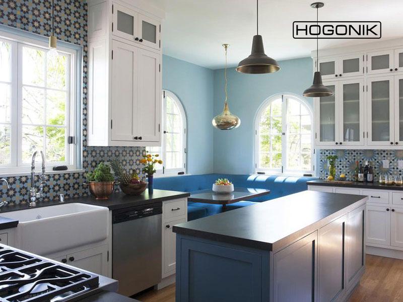 کاشی های طرح دار در بازسازی آشپزخانه