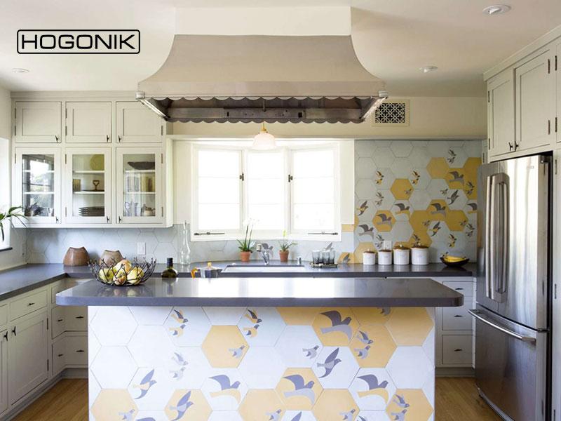 کاشی های طرح دار برای دکوراسیون آشپزخانه