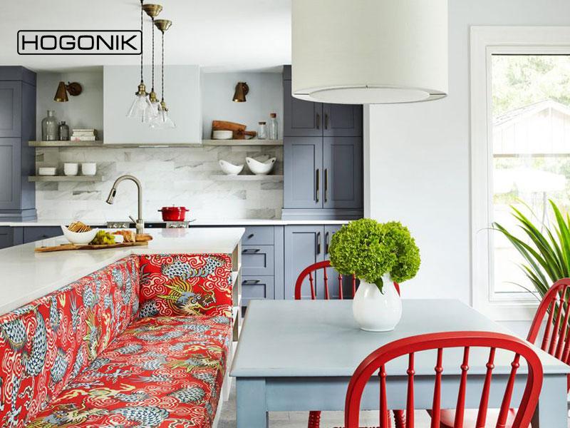 آشپزخانه ای با رنگ قرمز
