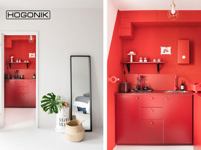 دکوراسیون آشپزخانه با رنگ قرمز