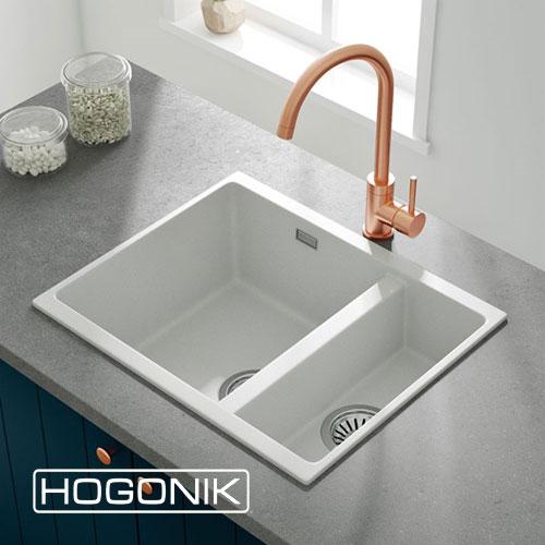 سینک ظرفشویی توکار کوچک با رنگ سفید