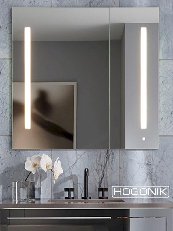 آینه LED کمددار مخصوص دستشویی