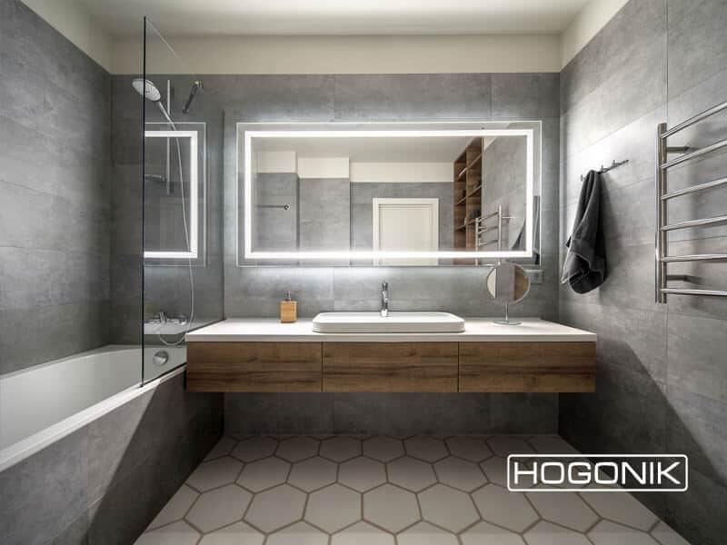 آینه دستشویی بزرگ به همراه LED