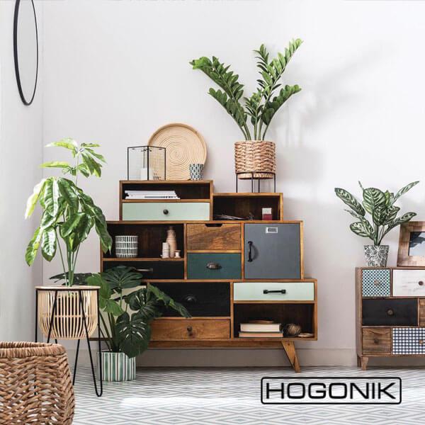 استفاده از گیاهان در اتاق متناسب با دکور