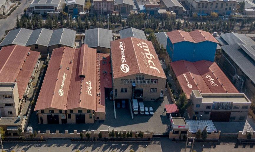 عکس هوایی از کارخانه شیرآلات شودر